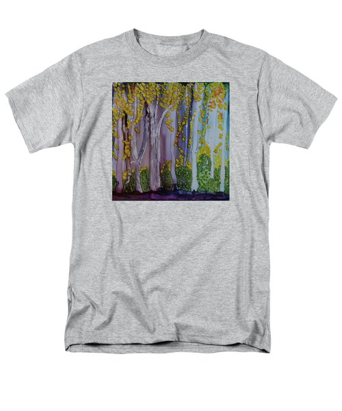 Men's T-Shirt  (Regular Fit) featuring the painting Ethereal Forest by Suzanne Canner