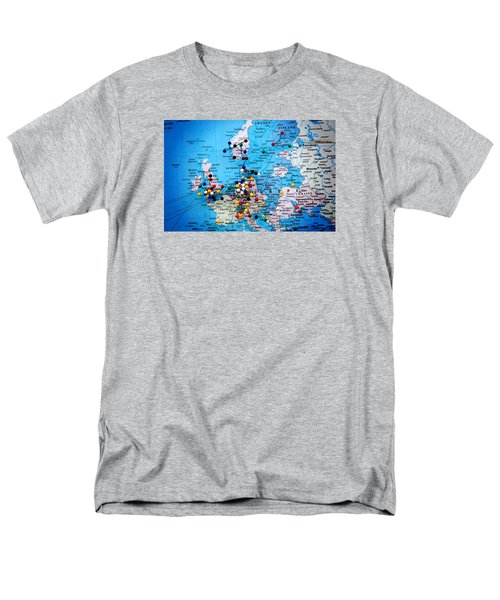 Men's T-Shirt  (Regular Fit) featuring the photograph Europe And Russia Map by Bob Pardue