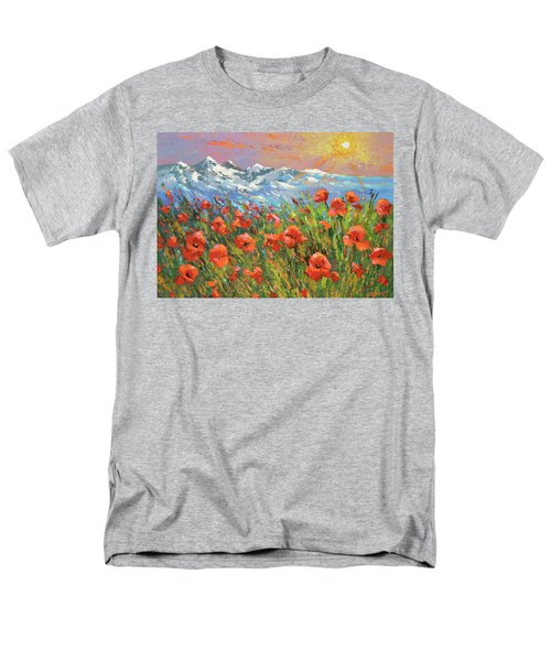 Men's T-Shirt  (Regular Fit) featuring the painting Evening Poppies  by Dmitry Spiros