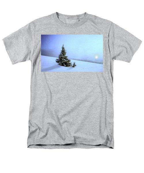 Men's T-Shirt  (Regular Fit) featuring the painting Evergreen Offspring P D P by David Dehner
