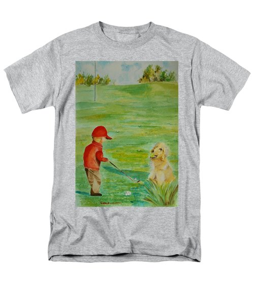 Everything Waits While I Golf Art Men's T-Shirt  (Regular Fit) by Geeta Biswas