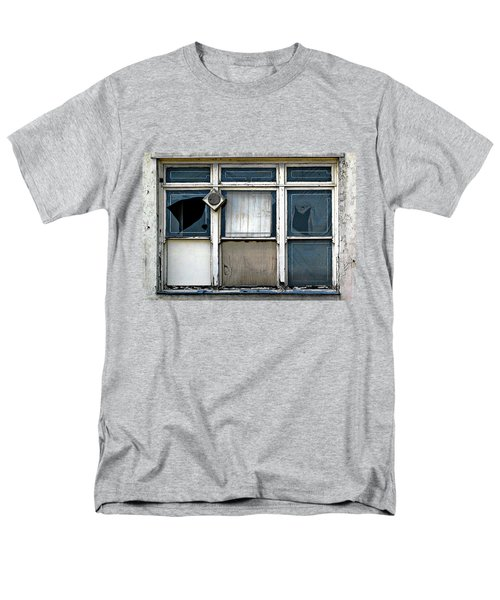 Men's T-Shirt  (Regular Fit) featuring the photograph Factory Windows by Ethna Gillespie