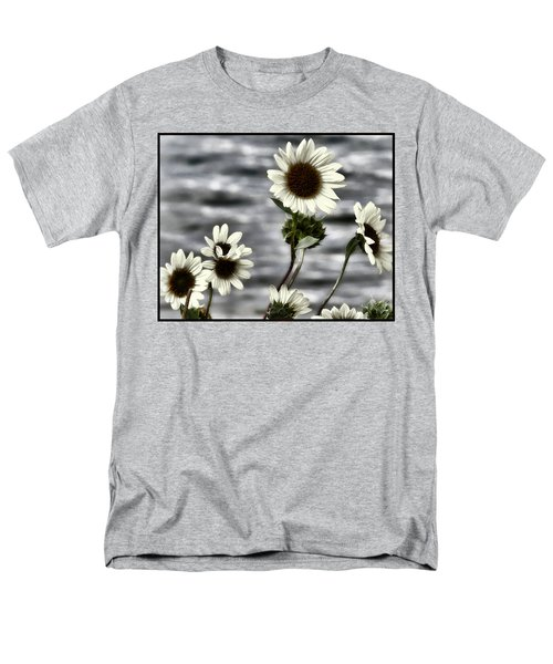 Men's T-Shirt  (Regular Fit) featuring the photograph Fading Sunflowers by Susan Kinney