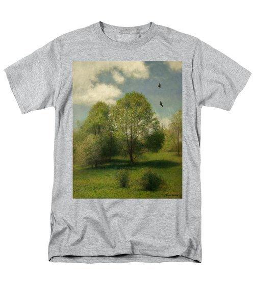 Men's T-Shirt  (Regular Fit) featuring the painting Fairchild Hill by Wayne Daniels