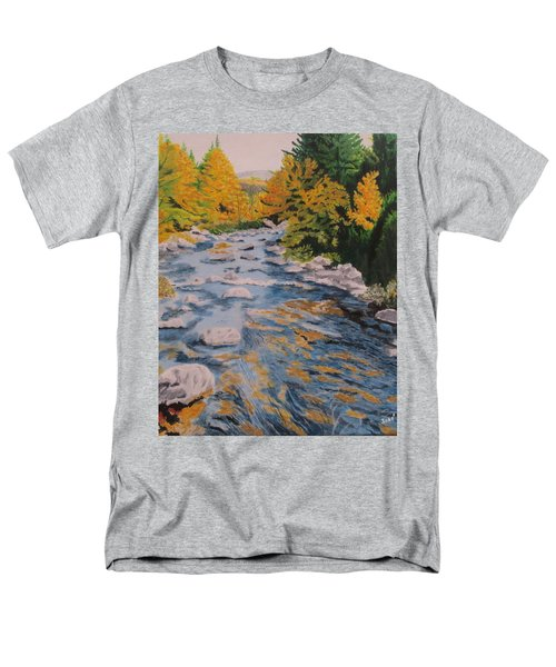 Men's T-Shirt  (Regular Fit) featuring the painting Fall Is Coming by Hilda and Jose Garrancho