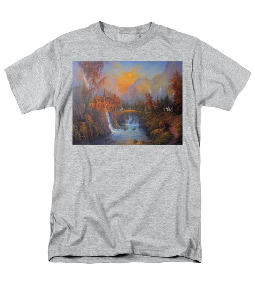 Farewell To Rivendell The Passing Of The Elves Men's T-Shirt  (Regular Fit) by Joe  Gilronan