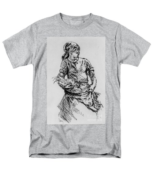 Men's T-Shirt  (Regular Fit) featuring the drawing Farm Girl by Rod Ismay
