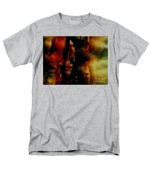 Men's T-Shirt  (Regular Fit) featuring the painting Fear On The Dark by Rushan Ruzaick