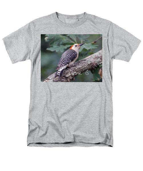 Female Red-bellied Woodpecker Men's T-Shirt  (Regular Fit) by Diane Giurco