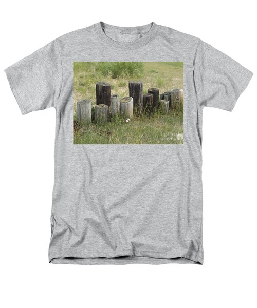 Fence Post All In A Row Men's T-Shirt  (Regular Fit) by Erick Schmidt