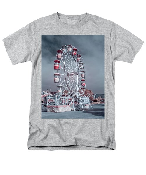 Men's T-Shirt  (Regular Fit) featuring the photograph Ferris Wheel In Morning by Greg Nyquist
