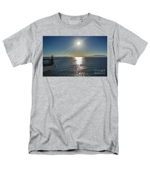 Men's T-Shirt  (Regular Fit) featuring the photograph Ferry To The San Juan's by William Wyckoff