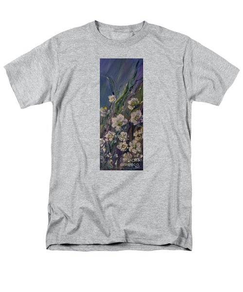 Fields Of White Flowers Men's T-Shirt  (Regular Fit) by AmaS Art