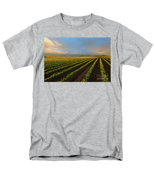 Men's T-Shirt  (Regular Fit) featuring the photograph Fields Of Yellow by Mike Dawson
