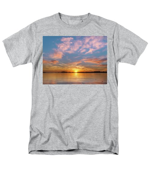 Fire Sunset On Humboldt Bay Men's T-Shirt  (Regular Fit) by Greg Nyquist