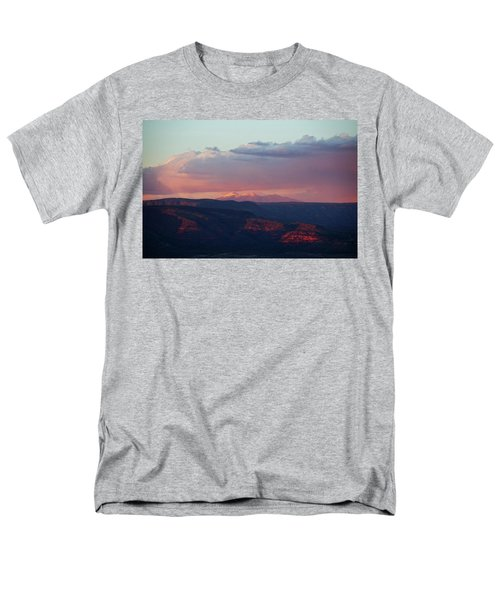 Flagstaff's San Francisco Peaks Snowy Sunset Men's T-Shirt  (Regular Fit) by Ron Chilston