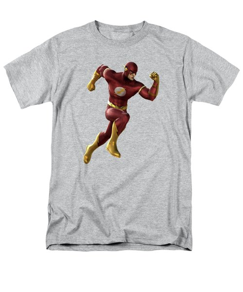 Men's T-Shirt  (Regular Fit) featuring the mixed media Flash Splash Super Hero Series by Movie Poster Prints