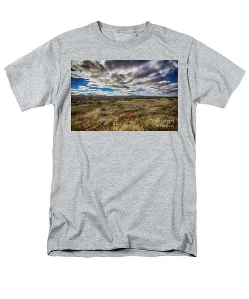 Men's T-Shirt  (Regular Fit) featuring the photograph Flinders Ranges Fields  by Douglas Barnard