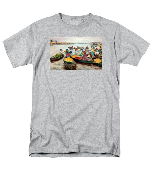 Men's T-Shirt  (Regular Fit) featuring the painting Floating Market by Jason Sentuf