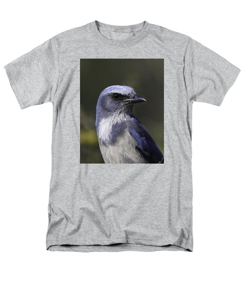Florida Scrub Jay Men's T-Shirt  (Regular Fit) by Elizabeth Eldridge