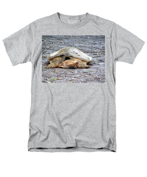 Men's T-Shirt  (Regular Fit) featuring the photograph Florida Softshell Turtle 001 by Chris Mercer