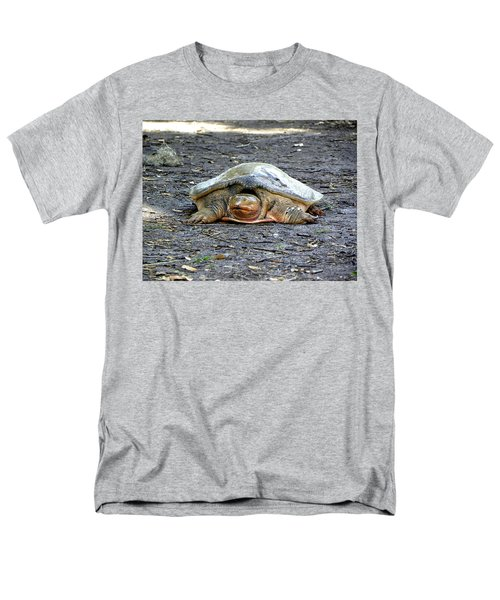 Men's T-Shirt  (Regular Fit) featuring the photograph Florida Softshell Turtle 002 by Chris Mercer