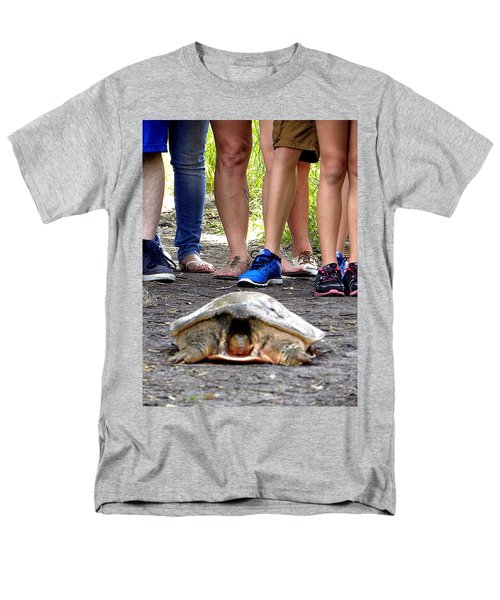 Men's T-Shirt  (Regular Fit) featuring the photograph Florida Softshell Turtle 003 by Chris Mercer