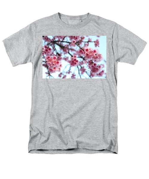 Men's T-Shirt  (Regular Fit) featuring the photograph flowering of the almond tree, Jerusalem by Yoel Koskas