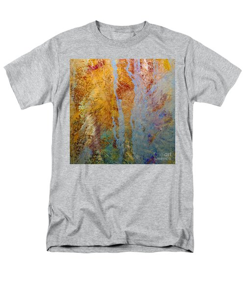 Men's T-Shirt  (Regular Fit) featuring the mixed media Fluid by Michael Rock