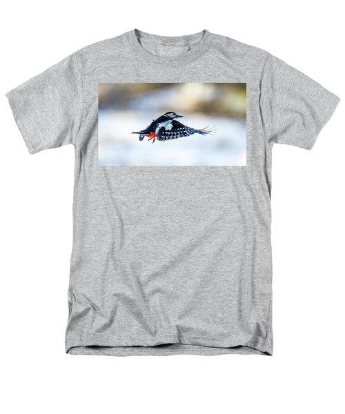 Flying Woodpecker Men's T-Shirt  (Regular Fit) by Torbjorn Swenelius
