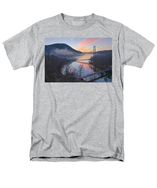 Foggy Dawn At Three Bridges Men's T-Shirt  (Regular Fit) by Angelo Marcialis
