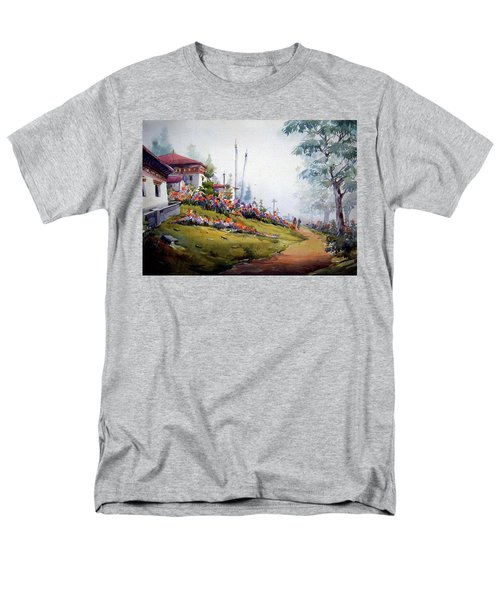 Foggy Mountain Village Men's T-Shirt  (Regular Fit) by Samiran Sarkar