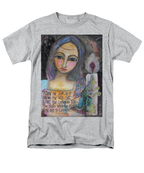 Follow The Light Men's T-Shirt  (Regular Fit) by Prerna Poojara