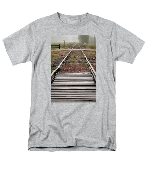 Men's T-Shirt  (Regular Fit) featuring the photograph Following The Tracks by Monte Stevens