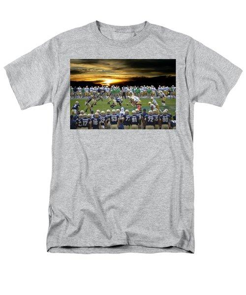 Football Field-notre Dame-navy Men's T-Shirt  (Regular Fit) by EricaMaxine  Price