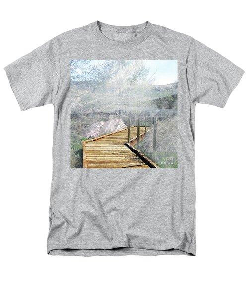 Footbridge In The Clouds Men's T-Shirt  (Regular Fit) by Deborah Nakano