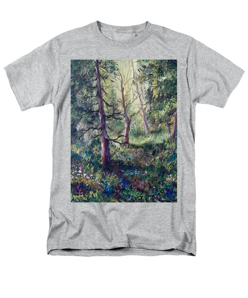 Forest Wildflowers Men's T-Shirt  (Regular Fit) by Megan Walsh