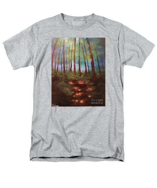 Men's T-Shirt  (Regular Fit) featuring the painting Forests Glow by Denise Tomasura