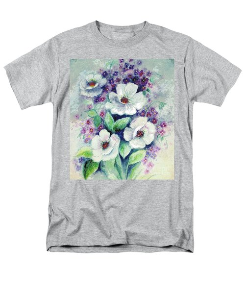 Forget-me-knots And Roses Men's T-Shirt  (Regular Fit) by Hazel Holland
