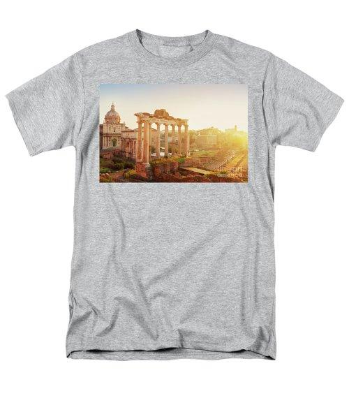 Forum - Roman Ruins In Rome At Sunrise Men's T-Shirt  (Regular Fit) by Anastasy Yarmolovich
