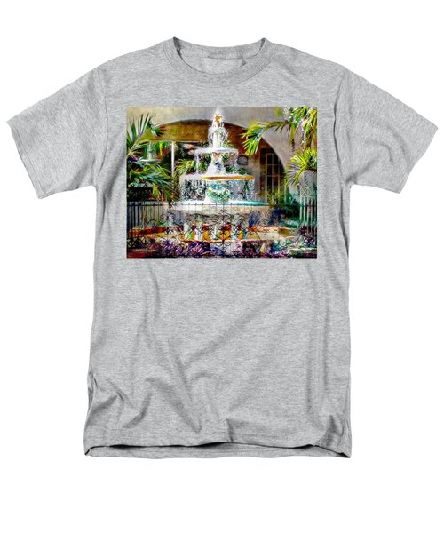 Fountain Of Water Men's T-Shirt  (Regular Fit) by Barbara Chichester