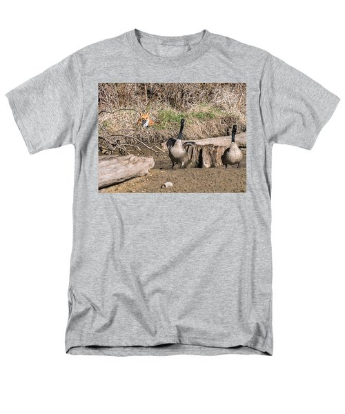 Men's T-Shirt  (Regular Fit) featuring the photograph Fox Watch by Edward Peterson