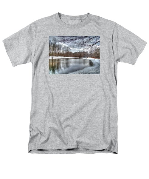 Men's T-Shirt  (Regular Fit) featuring the photograph Freezing Up by Betsy Zimmerli