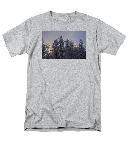 Men's T-Shirt  (Regular Fit) featuring the photograph Frozen by Ellen Heaverlo