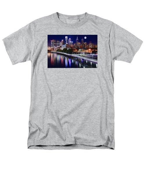 Full Moon Over Philly Men's T-Shirt  (Regular Fit)