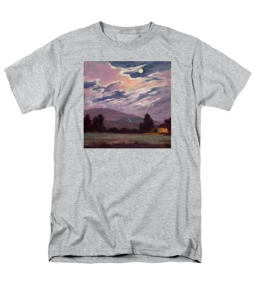 Full Moon With Clouds Men's T-Shirt  (Regular Fit) by Jane Thorpe