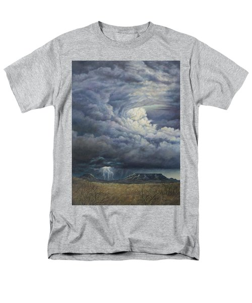 Fury Over Square Butte Men's T-Shirt  (Regular Fit) by Kim Lockman