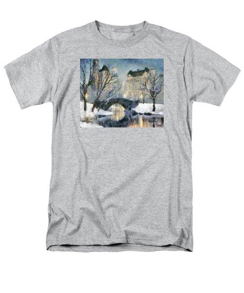Gapstow Bridge In Snow Men's T-Shirt  (Regular Fit)