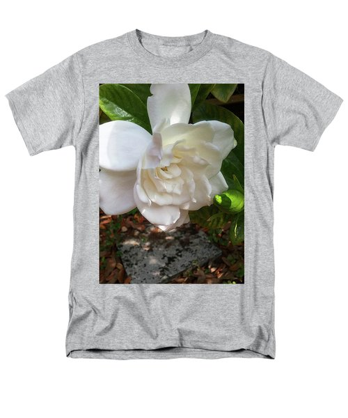 Men's T-Shirt  (Regular Fit) featuring the photograph Gardenia Blossom by Ginny Schmidt