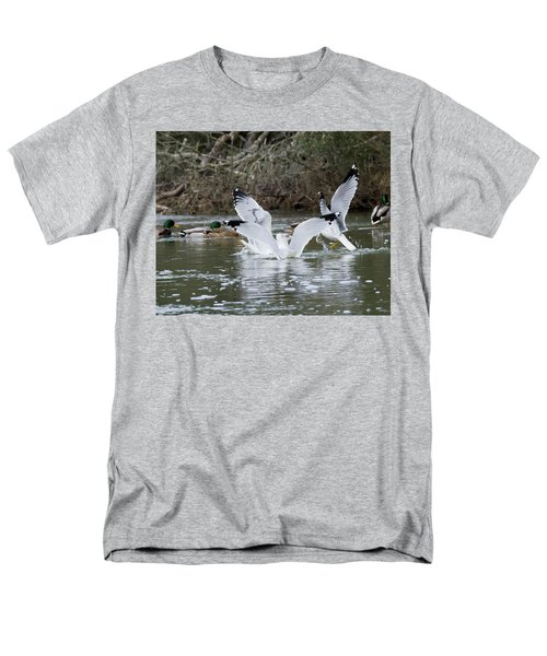 Men's T-Shirt  (Regular Fit) featuring the photograph Gathering Of Egrets by George Randy Bass